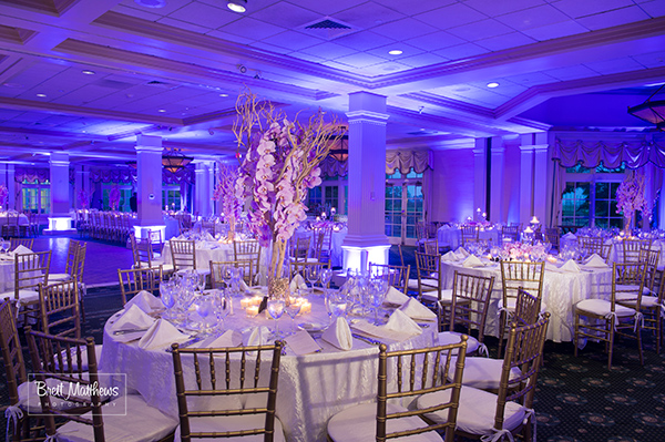 The tall, orchid and manzanita centerpiece.