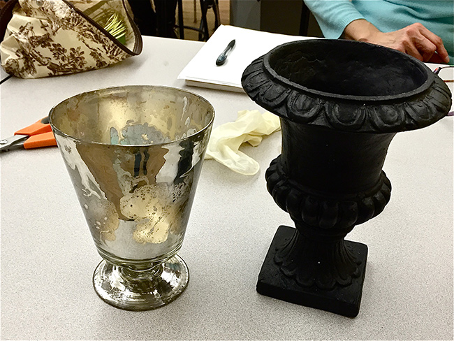 Start with our Mercury Glass Pedestal Vase