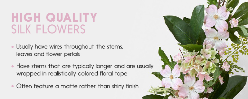 Guide to buying silk flowers floral dcor design tips identifying high quality silk flowers mightylinksfo