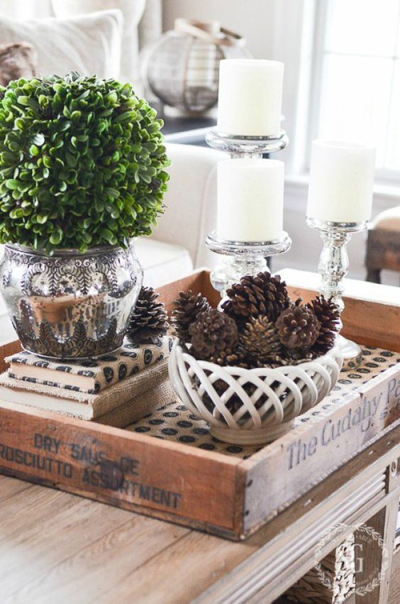 Ways to Decorate With Table Trays Service Tray Decoration Ideas