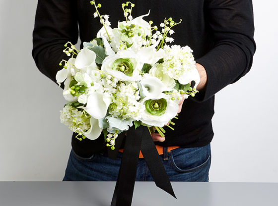 white wedding floral bouquet