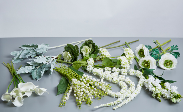 white silk flowers for wedding bouquets