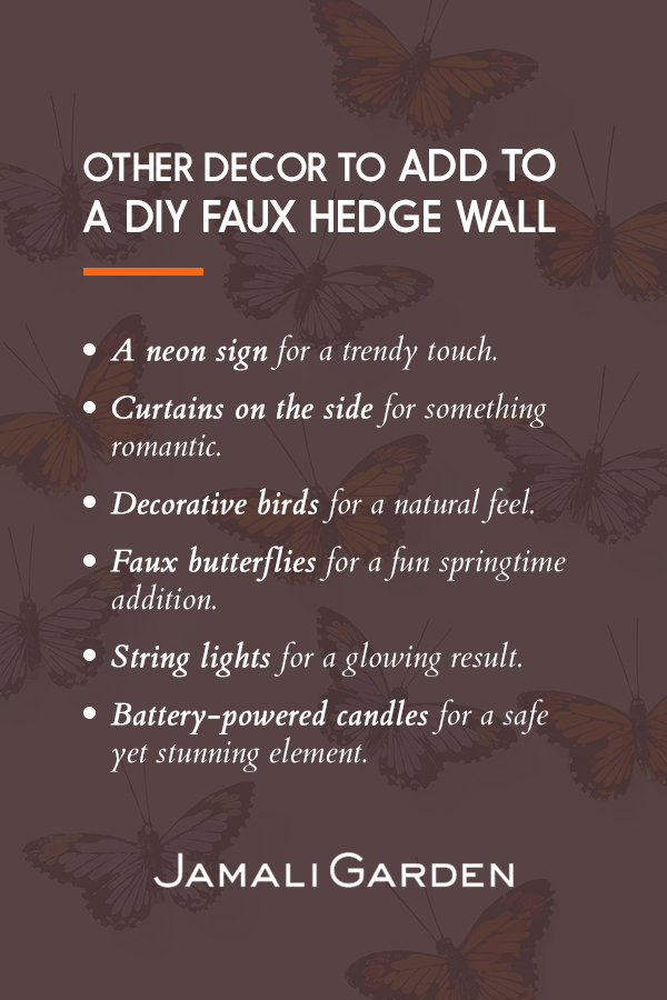Decor ideas to add to a greenery walls