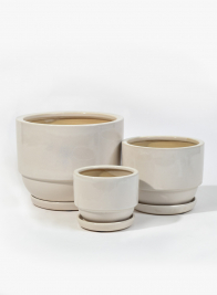White Pots With Saucer