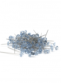OASIS Lomey 2in Light Blue Diamante Pins, Set of 100