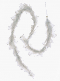 60in Silver Blue Feather Garland