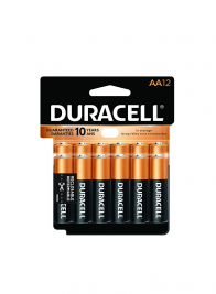 Coppertop Duracell AA Battery, Pack of 12 24895