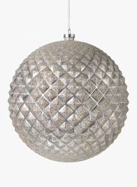 10in Champagne Glitter Candy Apple Chrome Durian Ball Ornament
