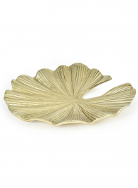 Gold Water Lily Leaf Tray