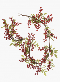 Red Berry Garland, 5ft