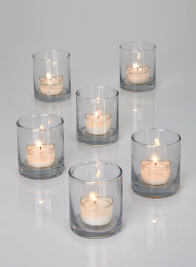 2 1/2 x 3in Clear Glass Votive Holder, Set of 6