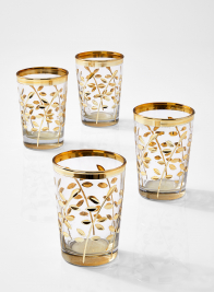 Marrakesh Gold Votive Holder, Set of 4