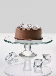 11 1/4in Crystal Cake Stand