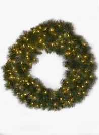 36in Pine Wreath  With 150 LED Lights