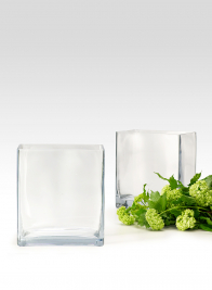 8in High Glass Rectangle Vase