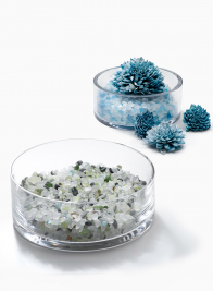 White Frost & Green Frost Mix Glass Beads