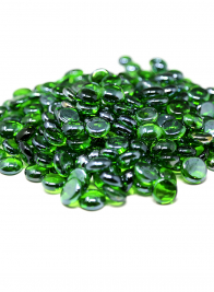 Green Luster Glass Nuggets