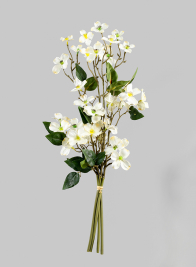 20in White Dogwood Bunch