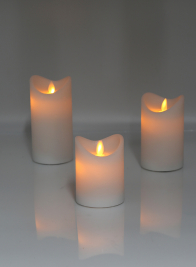 4in, 5in, 6in Moving Wick Wax LED Candles