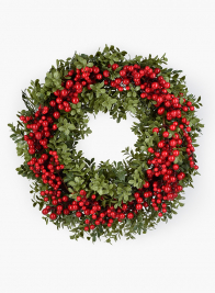Red Berry & Leaves Wreath