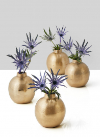 Chateau Gold Ball Bud Vase, Set of 4