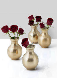 Chateau Classic Gold Bud Vase, Set of 4