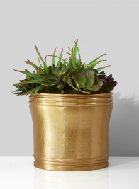 12in Antique Brass Planter