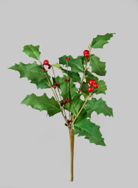 15in Holly & Red Berry Pick