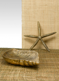 Antique Gold Whelk Tray