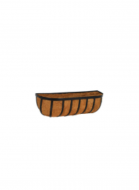 24in & 36in Black Wall Planter With Coco Liner