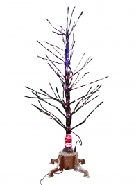36in Snowy Branch Christmas Tree With Warm White L.E.D. Light Tips