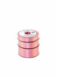 swiss satin double face ribbon  W035-015 Pink Delight